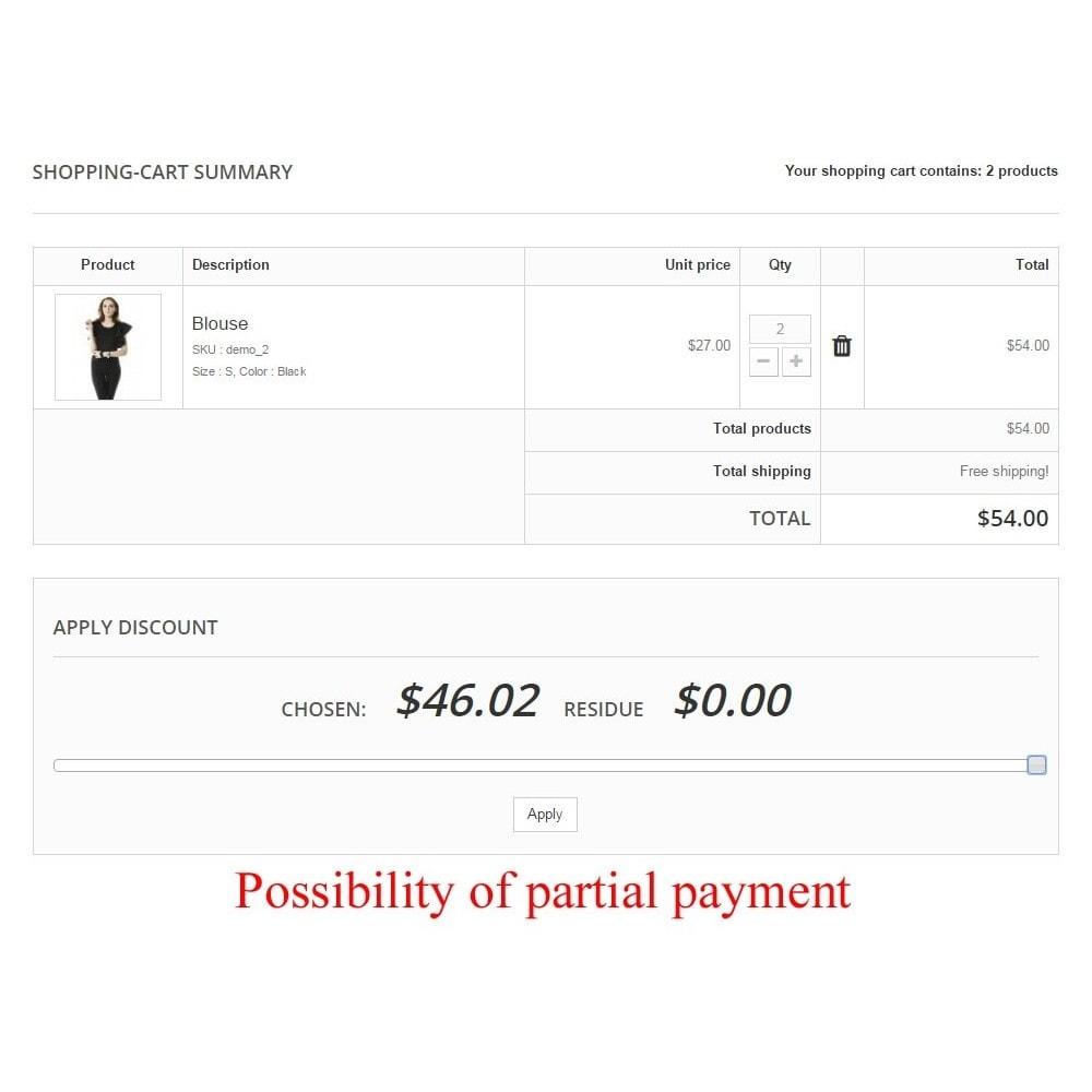 module - Płatność kartą lub Płatność Wallet - User internal balance UserBalance - 12
