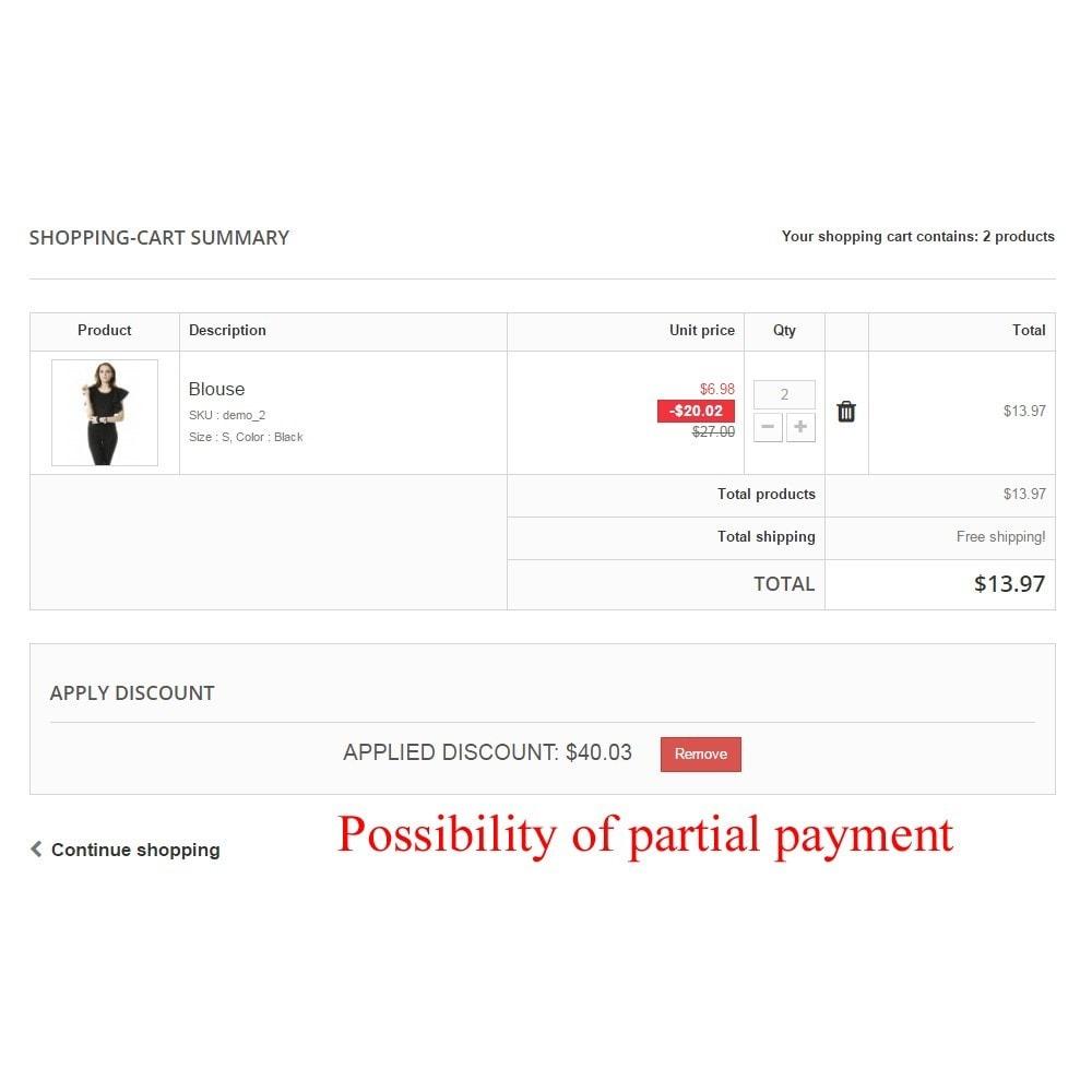 module - Płatność kartą lub Płatność Wallet - User internal balance UserBalance - 13