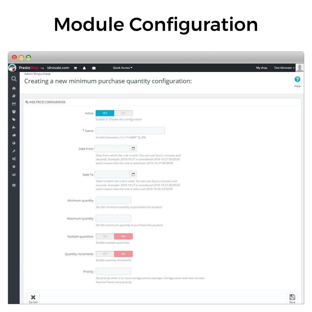 module - Registration & Ordering Process - Minimum, maximum, multiple units and total cart limits - 2