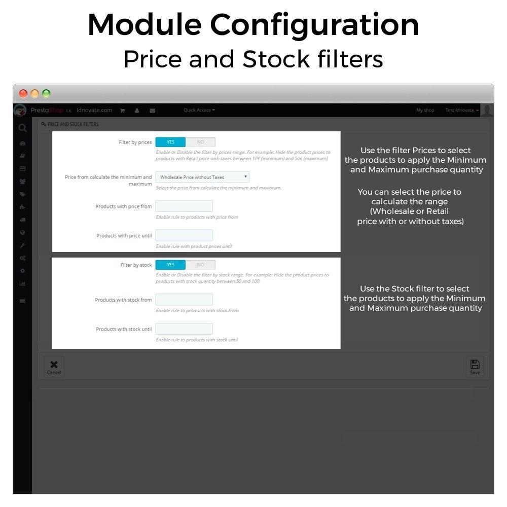 module - Registration & Ordering Process - Minimum, maximum, multiple units and total cart limits - 4