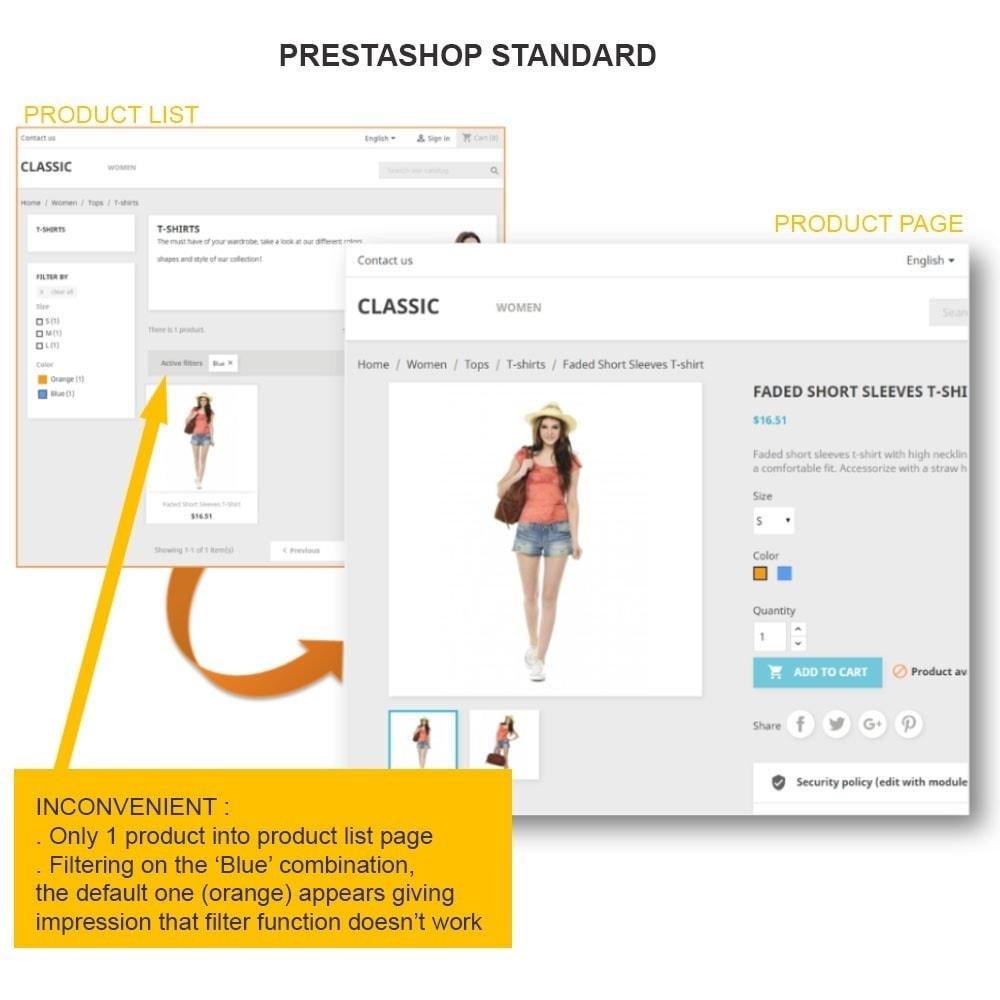module - Deklinacje & Personalizacja produktów - SUPERMODEL: Products grouping on product sheet - 1
