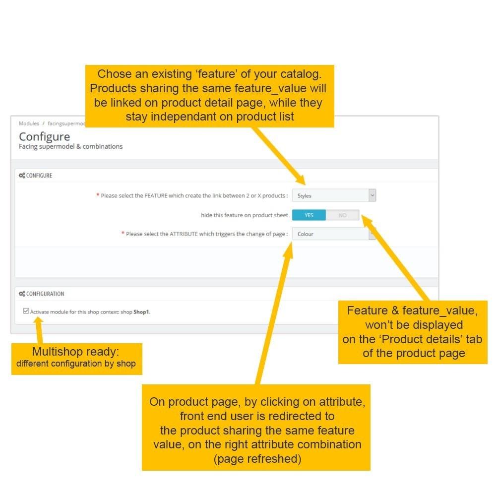 module - Deklinacje & Personalizacja produktów - SUPERMODEL: Products grouping on product sheet - 3
