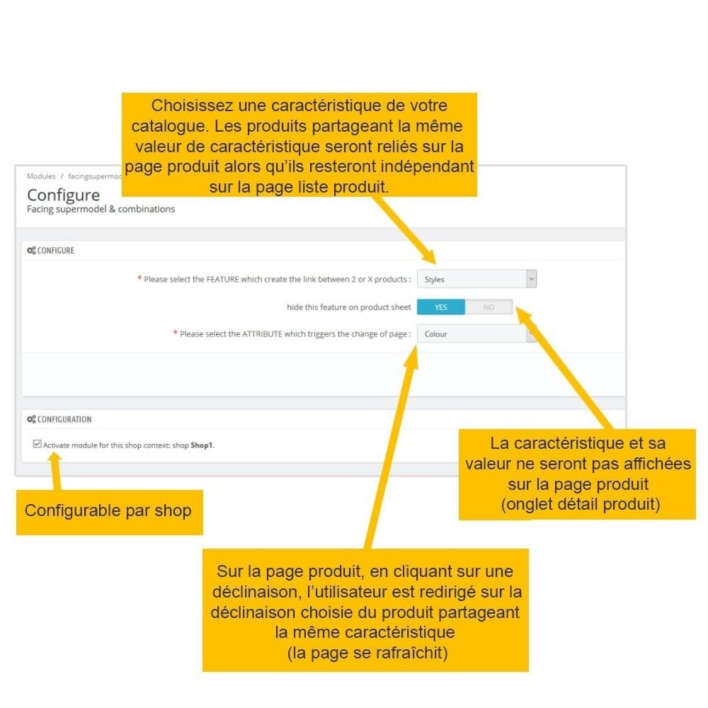 module - Déclinaisons & Personnalisation de produits - SUPERMODELE : regroupement produits sur fiche article - 3
