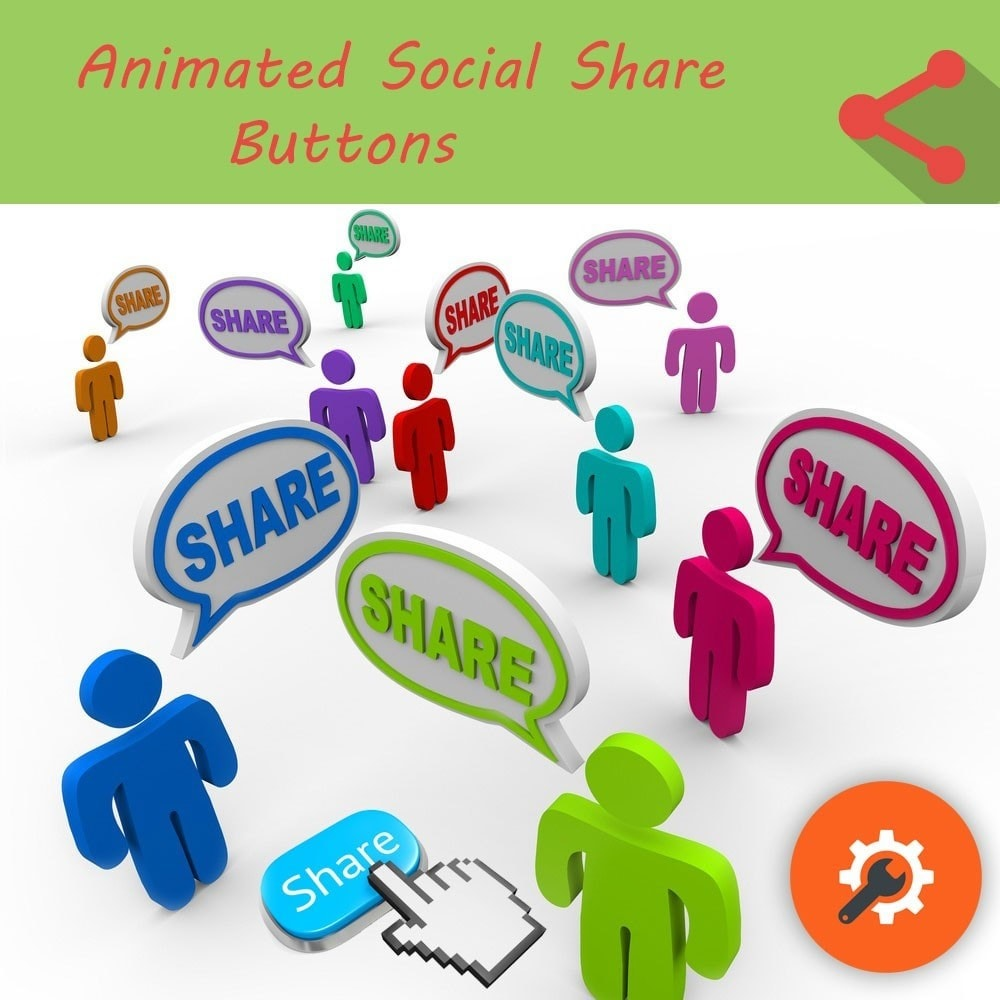 module - Boutons de Partage & Commentaires - Animated Social Share Buttons - 1