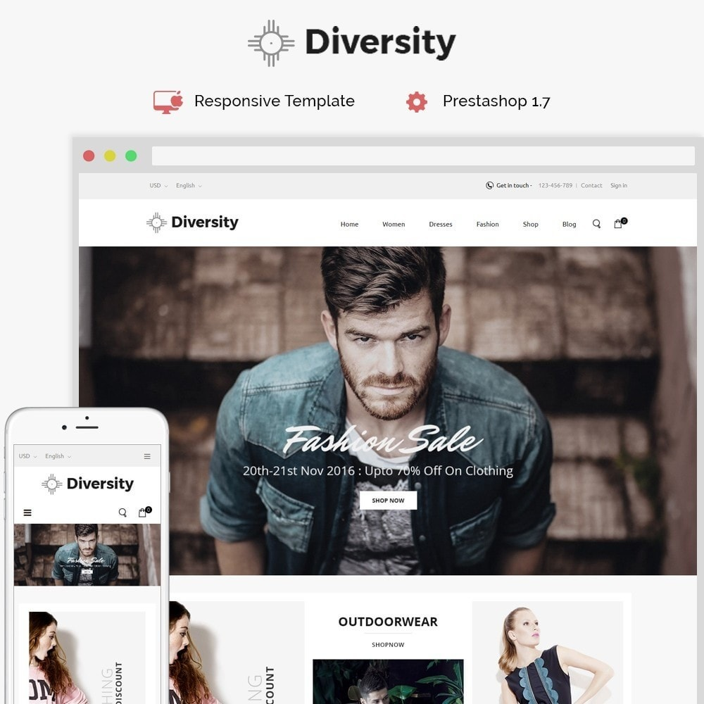 theme - Mode & Chaussures - Diversity - Fashion Store - 1