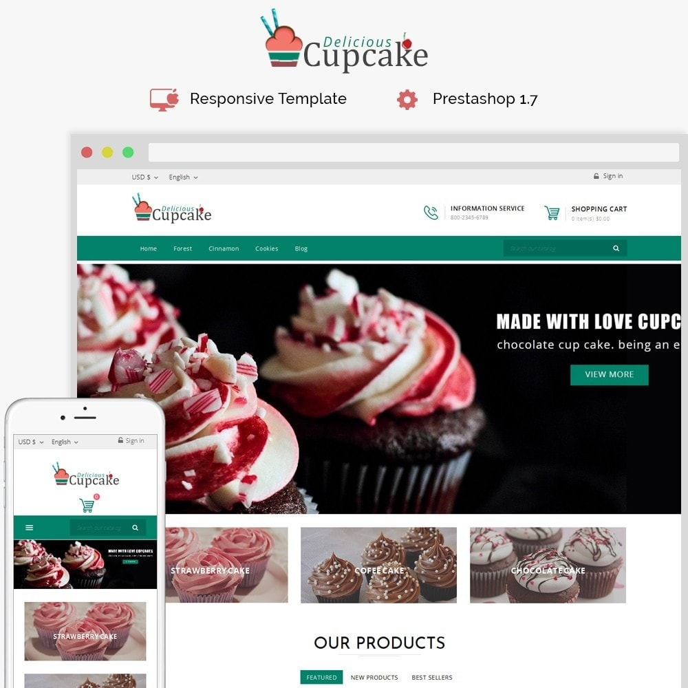 theme - Lebensmittel & Restaurants - Cupcake Cake Shop - 1