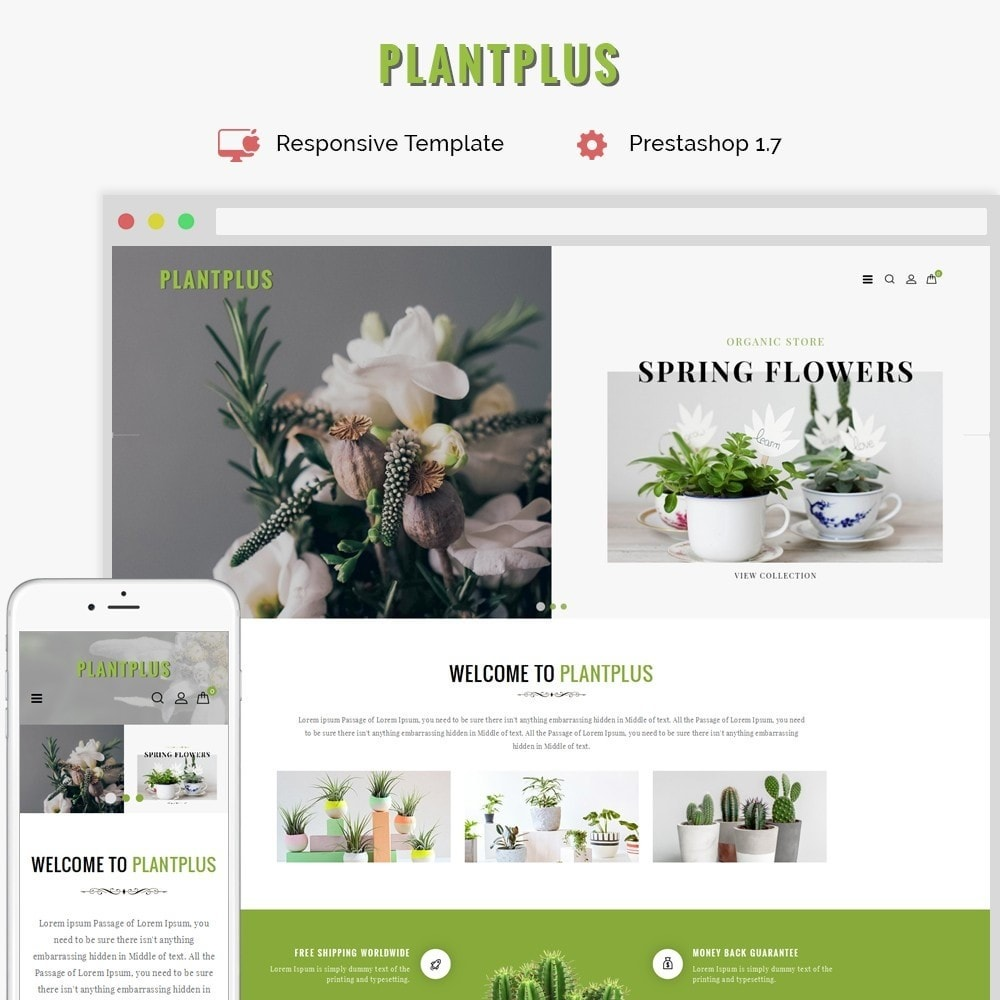 theme - Casa & Jardins - Plantplus Plant Shop - 1