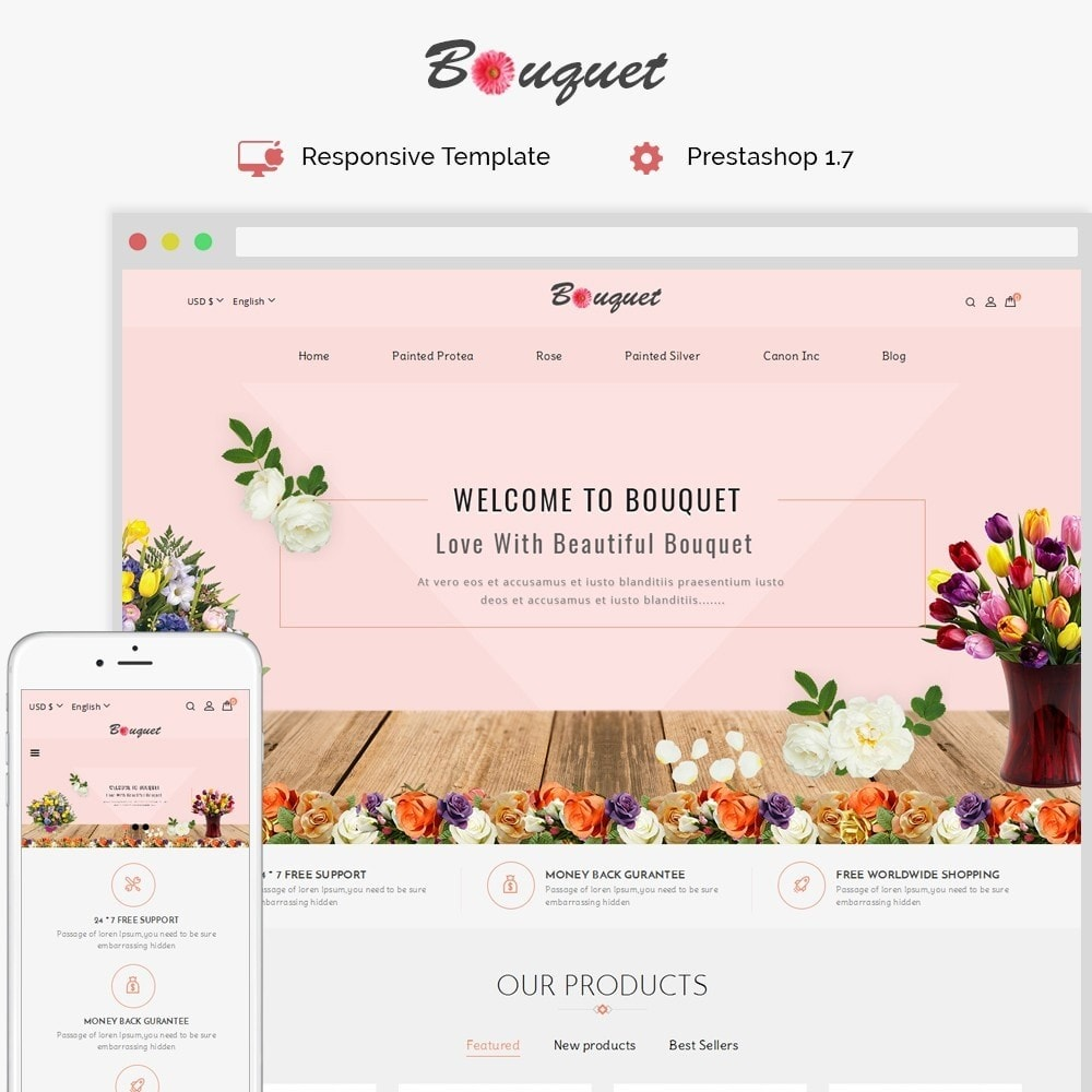 theme - Heim & Garten - Bouquet Flower Shop - 1