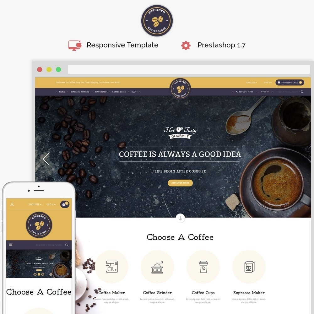 theme - Drink & Wine - Expresso Coffee Store - 1