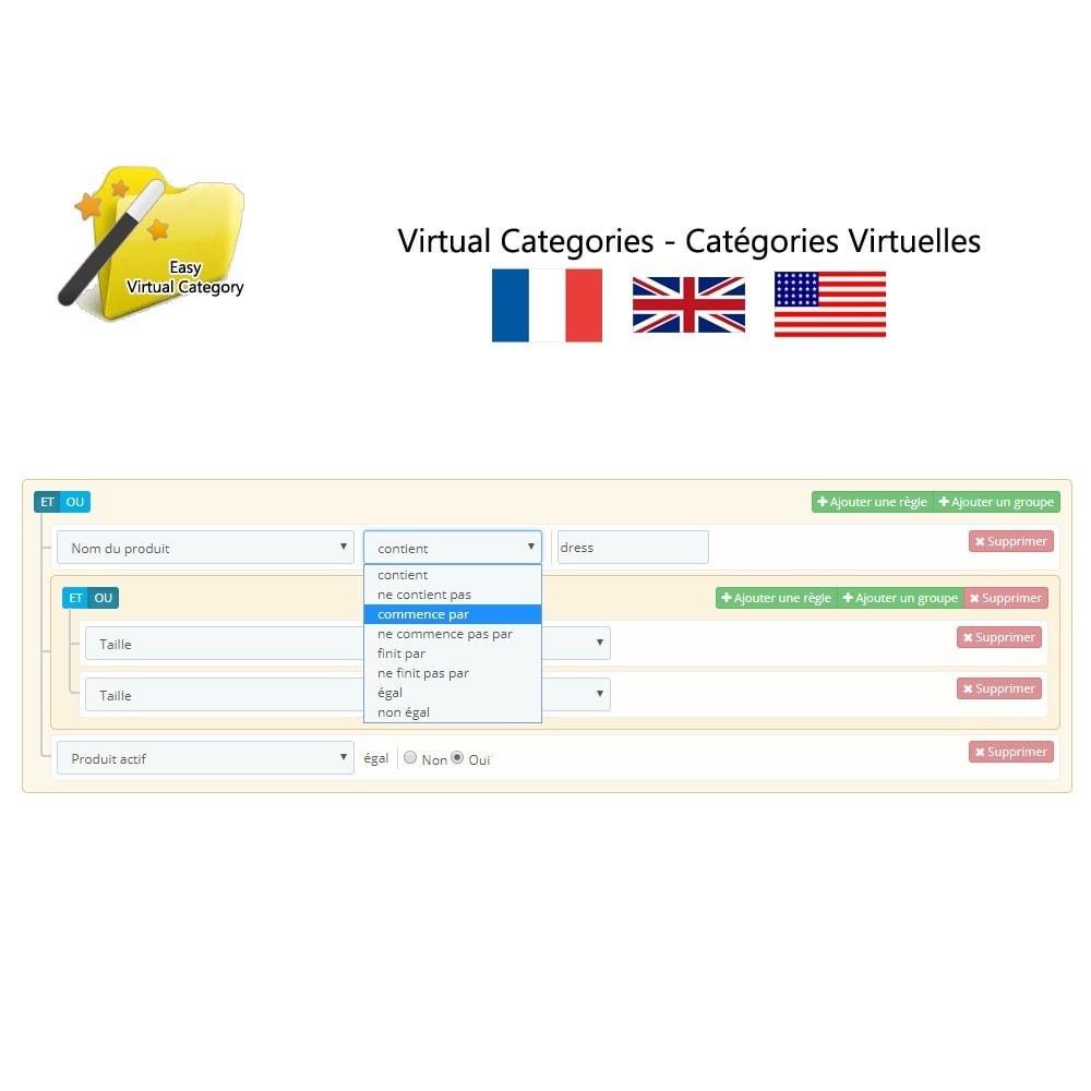 module - Edição rápida & em massa - Virtual category - 3