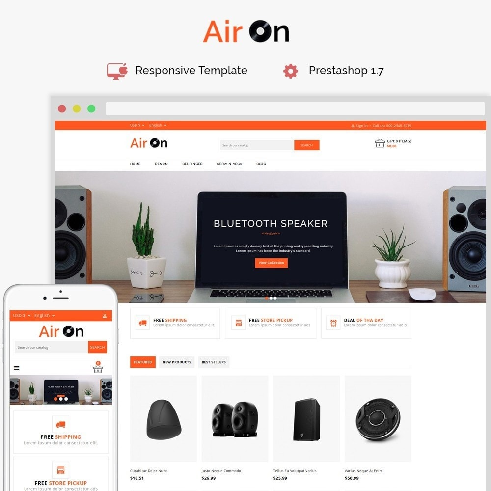 theme - Elettronica & High Tech - Airon Speakers Store - 1