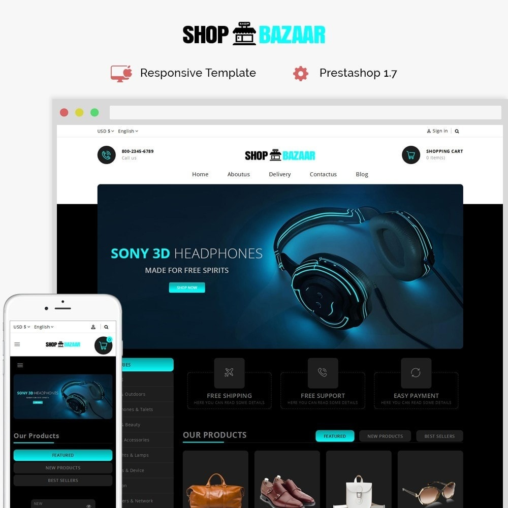 theme - Electrónica e High Tech - ShopBazar Multi  Store - 1