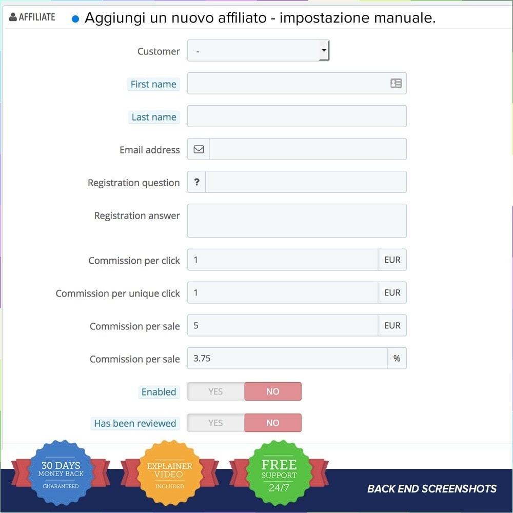 module - Indicizzazione a pagamento (SEA SEM) & Affiliazione - Full Affiliato - 14