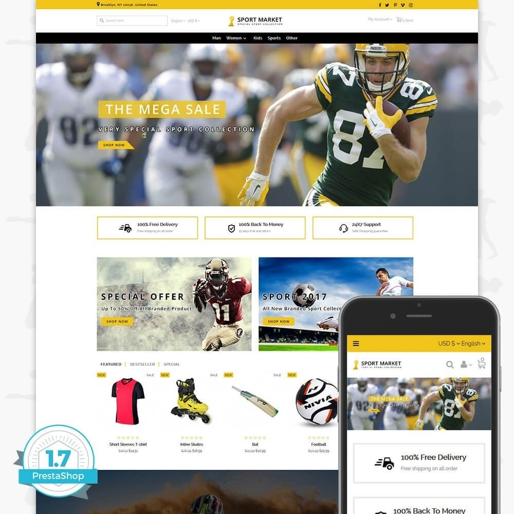 theme - Deportes, Actividades y Viajes - Sport Market - 1