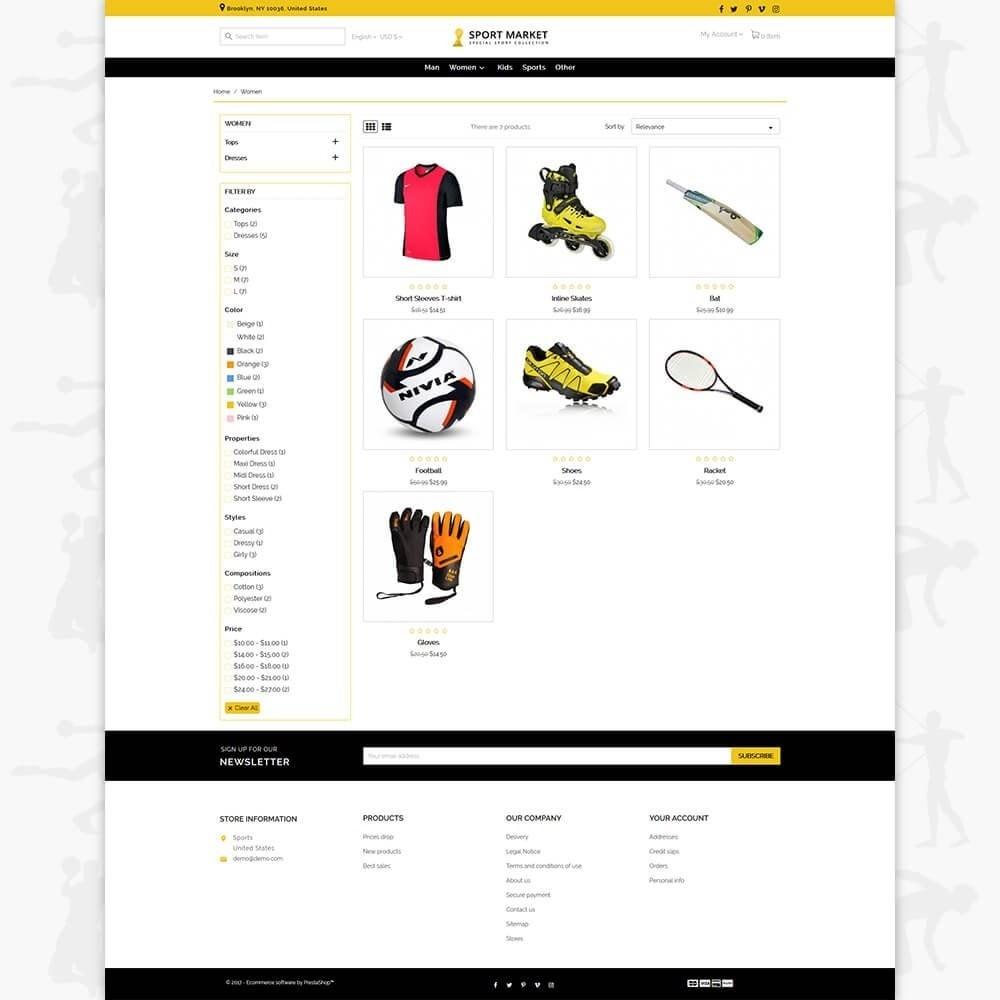 theme - Sports, Activities & Travel - Sport Market - 3