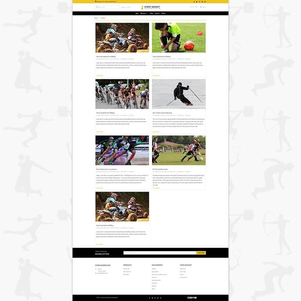 theme - Deportes, Actividades y Viajes - Sport Market - 6