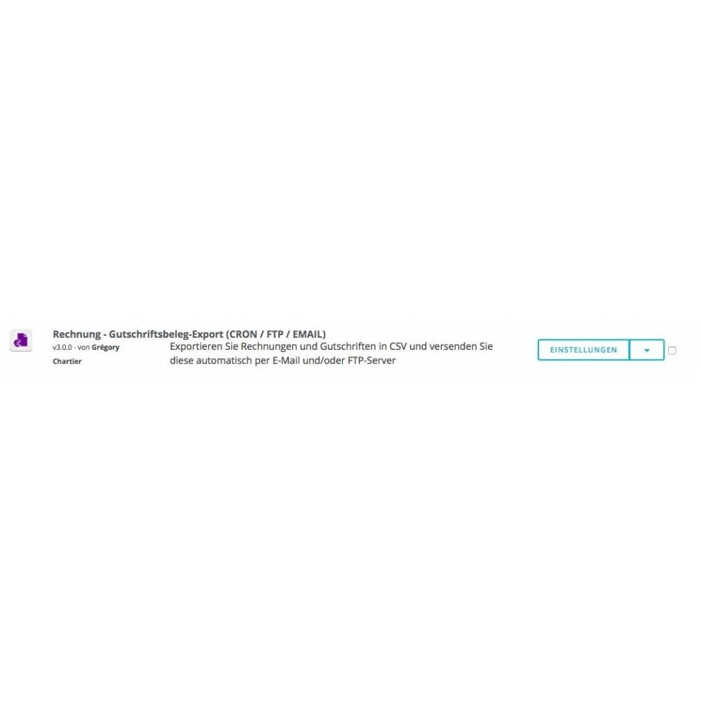 module - Daten Im-&Export - Rechnung - Gutschrift Export (CRON / FTP / MAIL) - 6