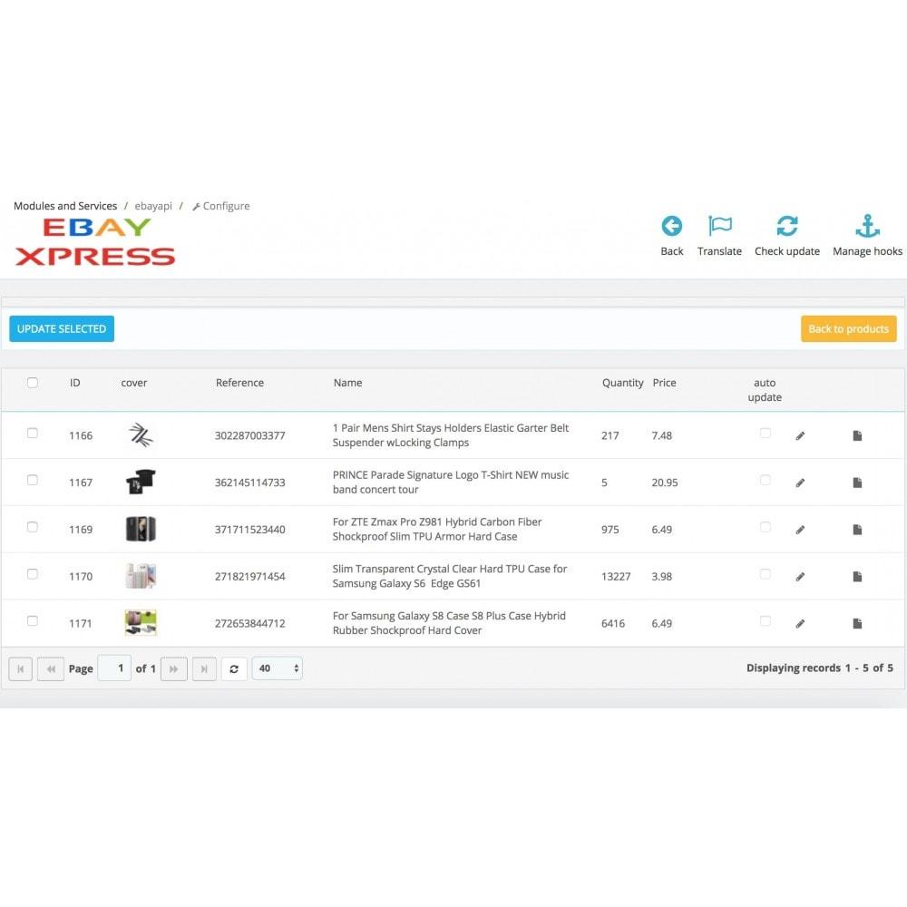 module - Import & Export de données - EbayXpress Importer - 2