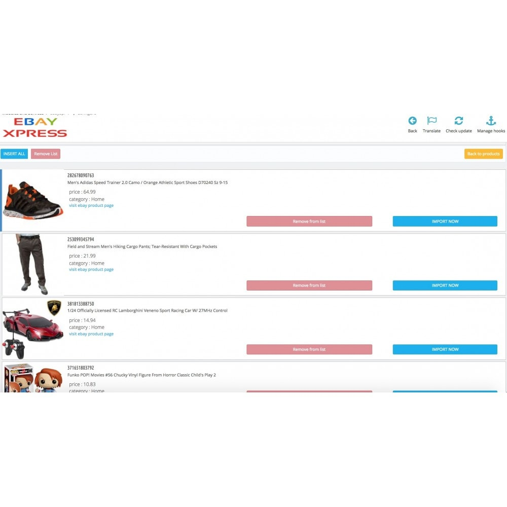 module - Import & Export de données - Dropshipping - EbayXpress Importer - 4