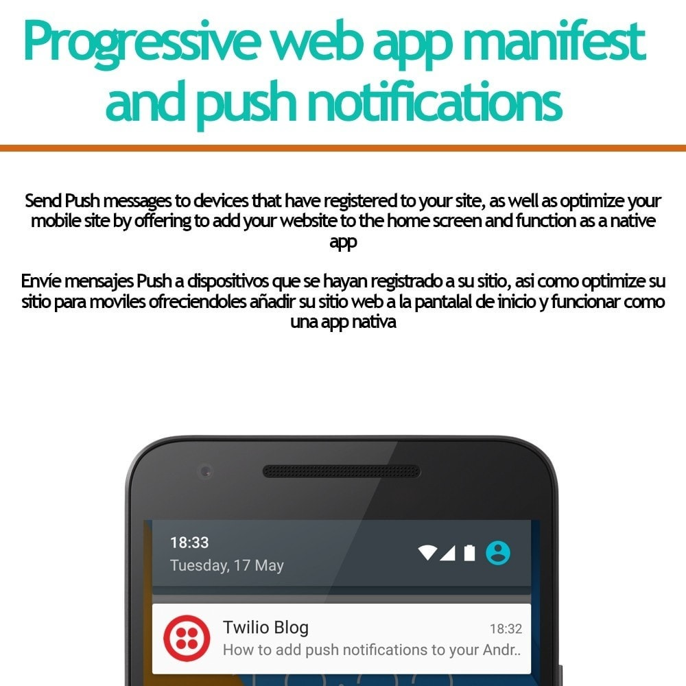 module - Notifications & Automatic Emails - Progressive web app and push notifications - 1