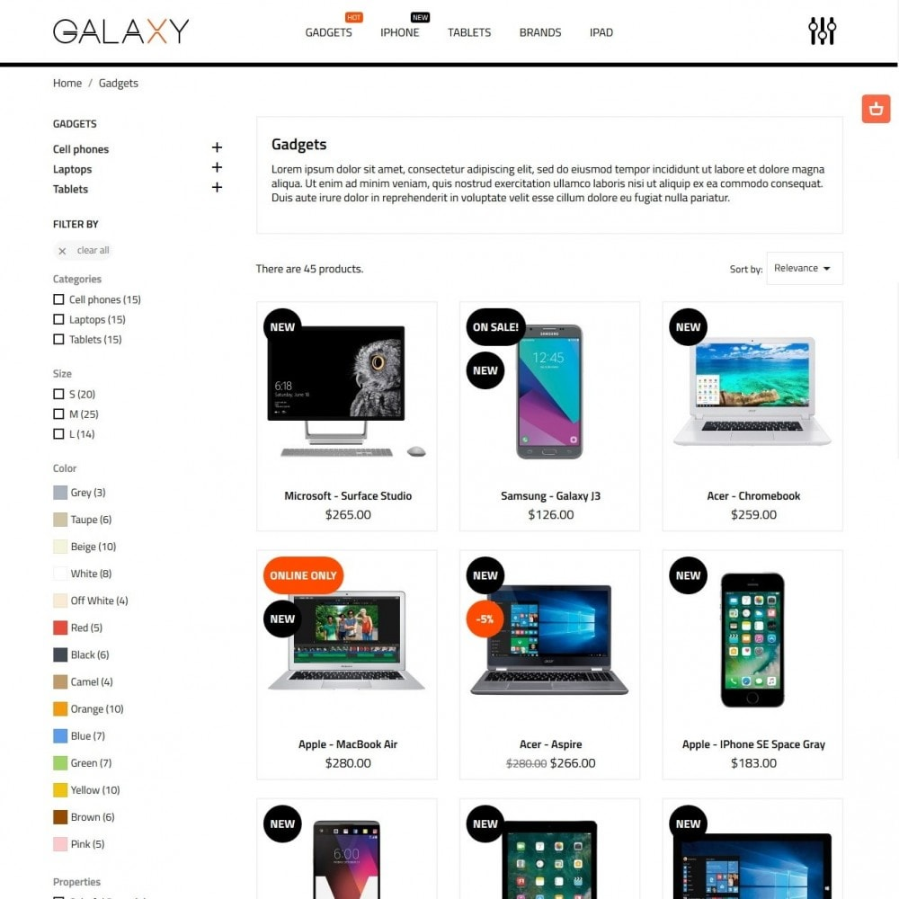 theme - Elektronica & High Tech - Galaxy - High-tech Shop - 5