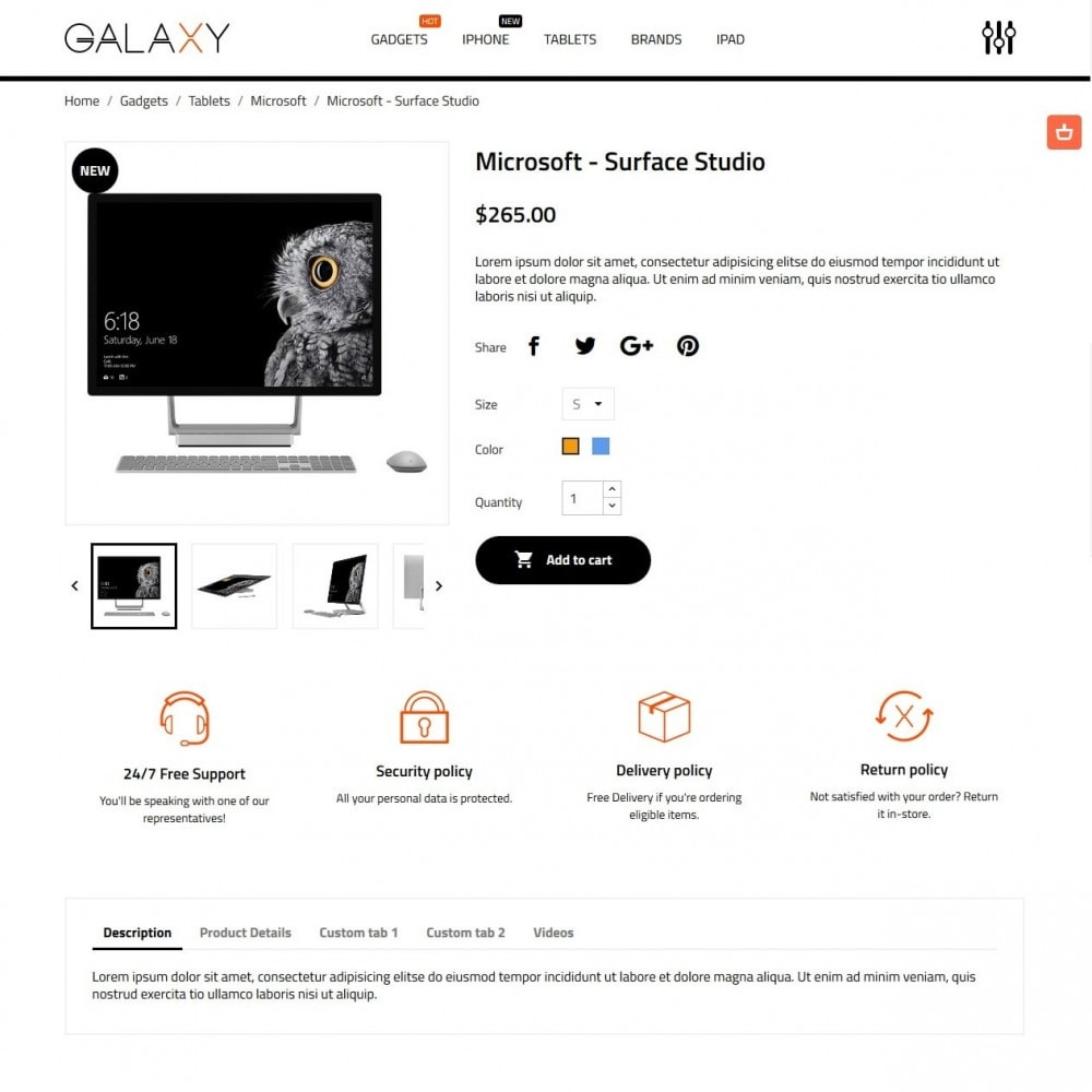 theme - Elektronica & High Tech - Galaxy - High-tech Shop - 6