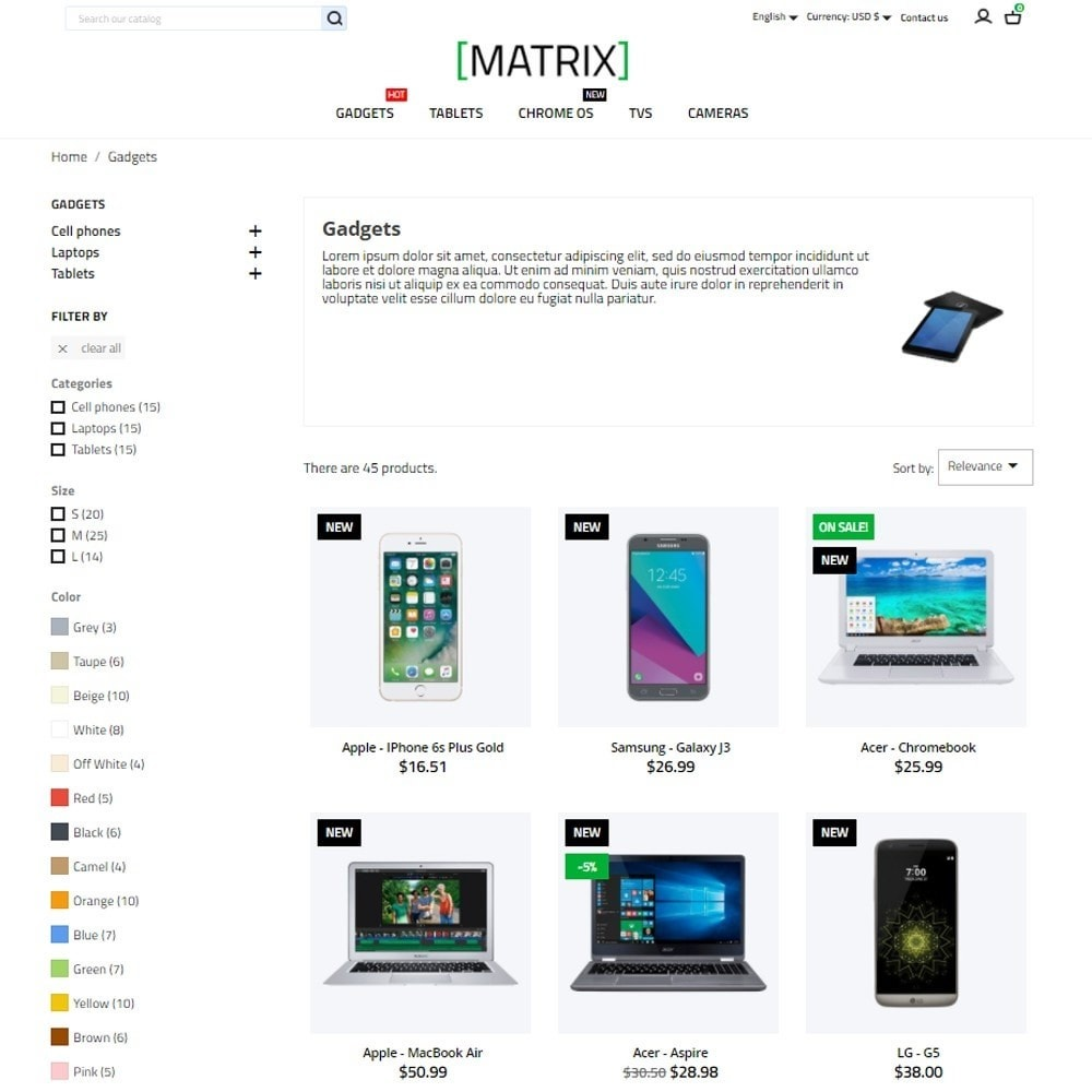 theme - Eletrônicos & High Tech - Matrix - High-tech Shop - 6