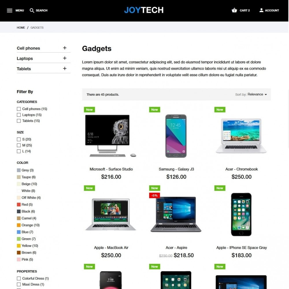theme - Eletrônicos & High Tech - Joytech - High-tech Shop - 5