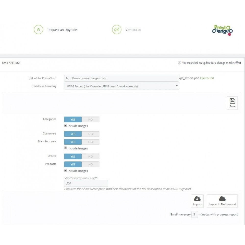 module - Migratie & Backup - PrestaShop to PrestaShop 1.7 Migration - 1
