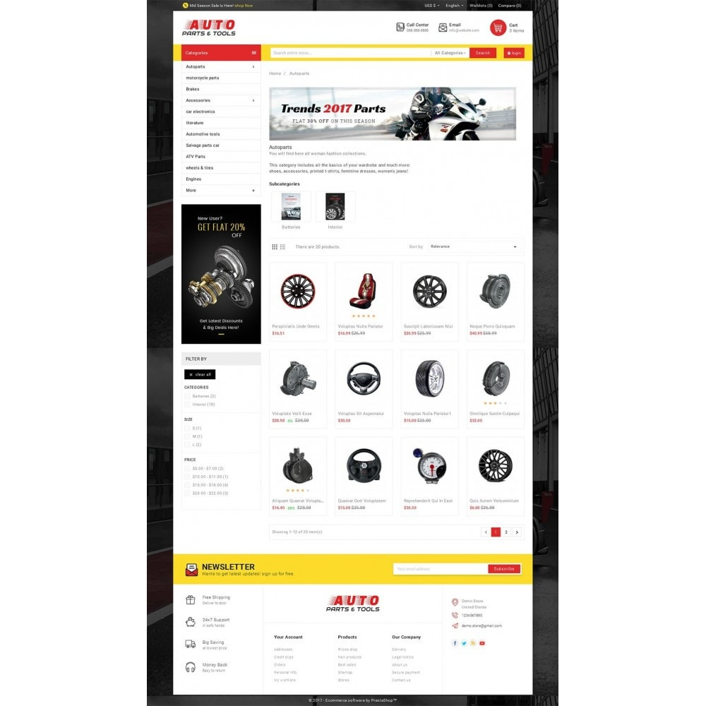 theme - Automotive & Cars - Auto Parts Mega Store - 3