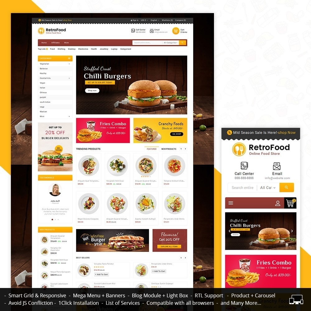 theme - Food & Restaurant - Fast Foods Mega Store - 1