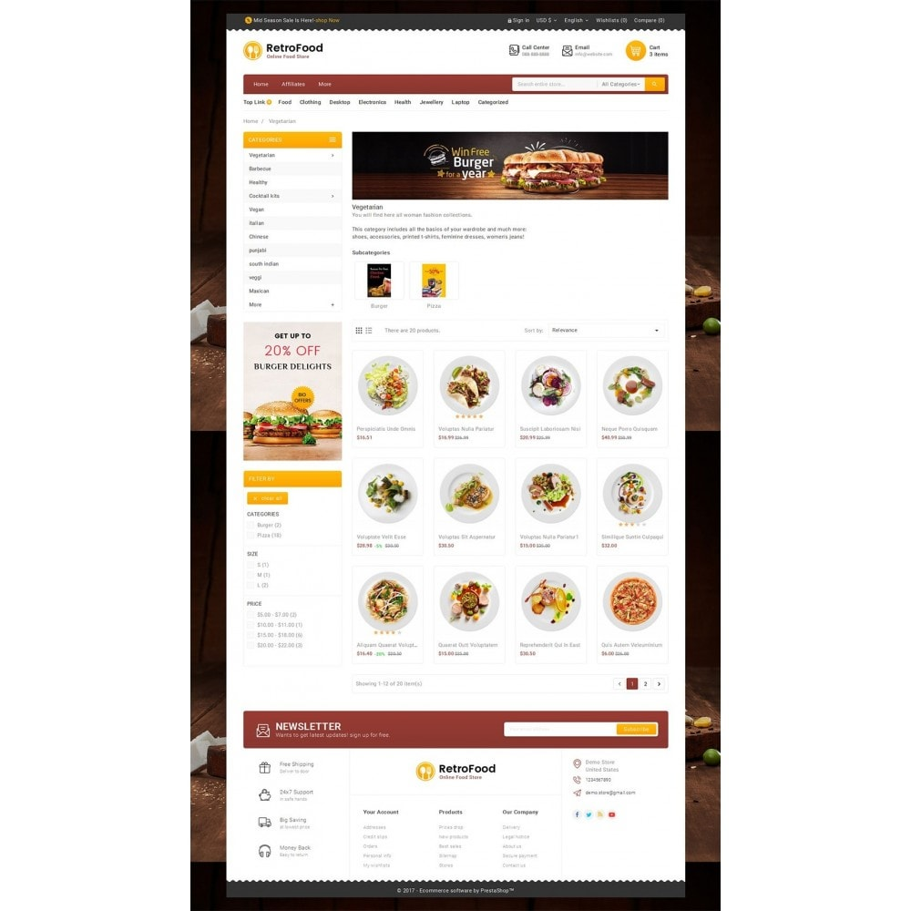 theme - Food & Restaurant - Fast Foods Mega Store - 3
