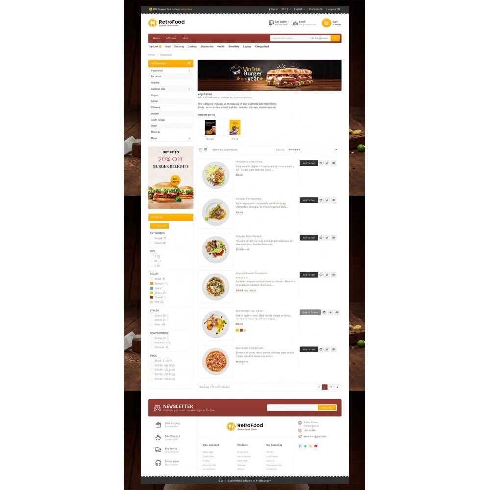 theme - Food & Restaurant - Fast Foods Mega Store - 4