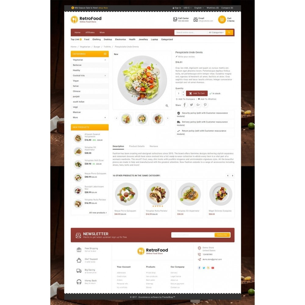 theme - Food & Restaurant - Fast Foods Mega Store - 5