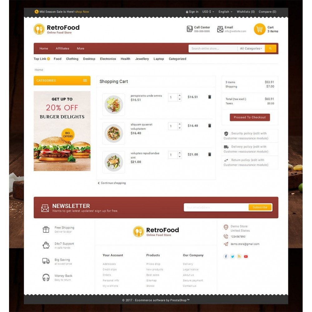 theme - Food & Restaurant - Fast Foods Mega Store - 6