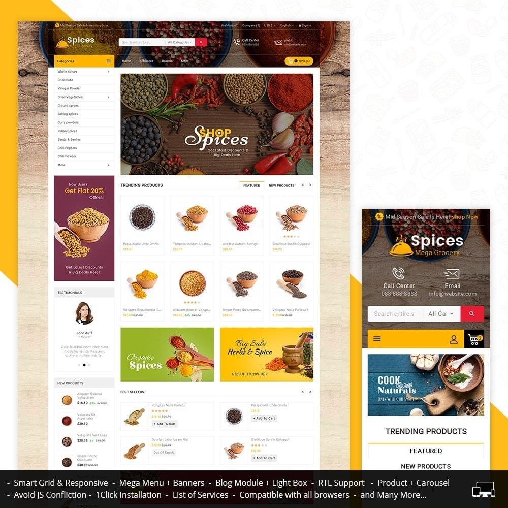 theme - Alimentos & Restaurantes - Spices Mega Store - 1