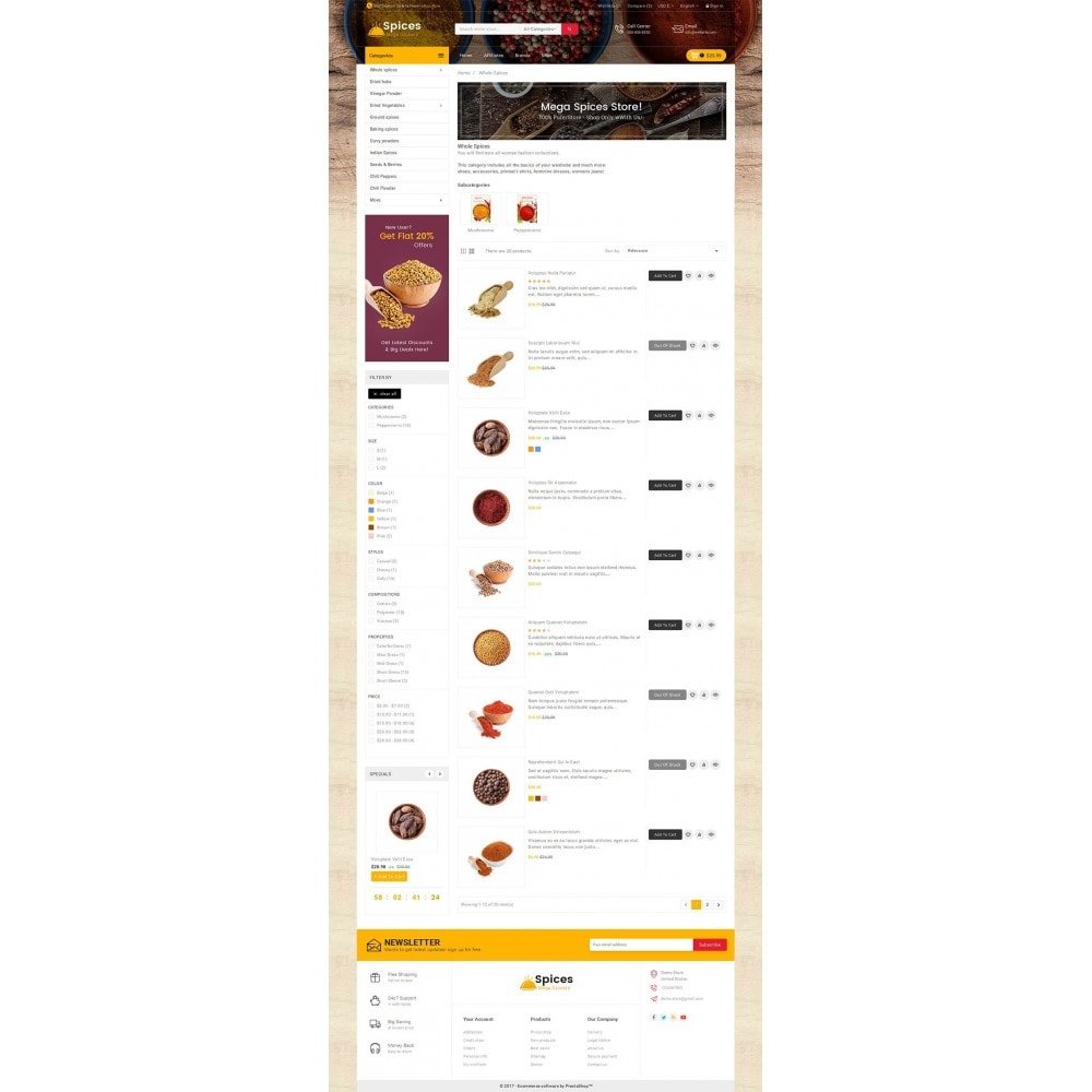 theme - Alimentos & Restaurantes - Spices Mega Store - 4