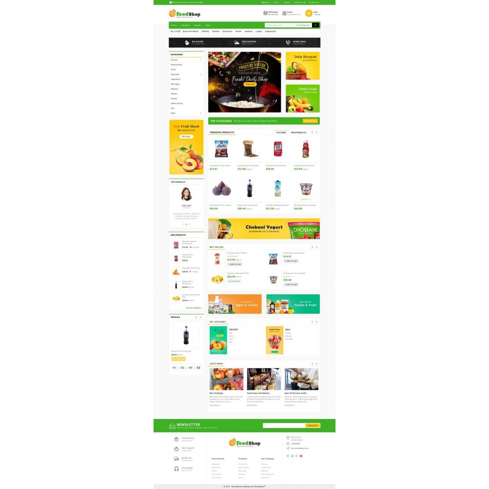 theme - Alimentation & Restauration - Grocery Food Mega Store - 2