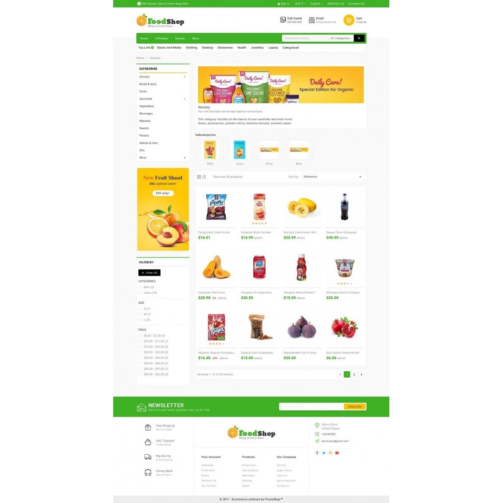 theme - Alimentation & Restauration - Grocery Food Mega Store - 3