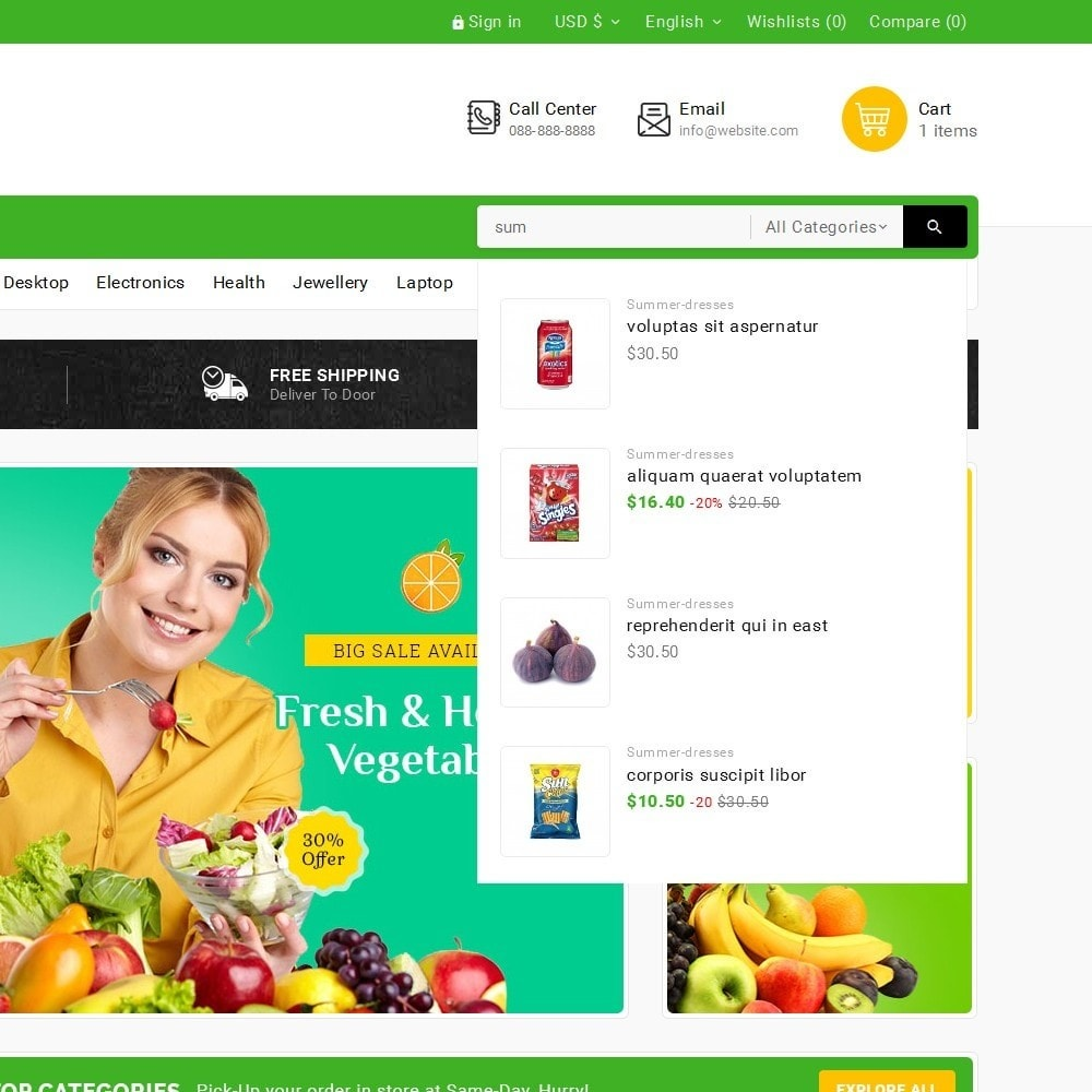 theme - Alimentation & Restauration - Grocery Food Mega Store - 10