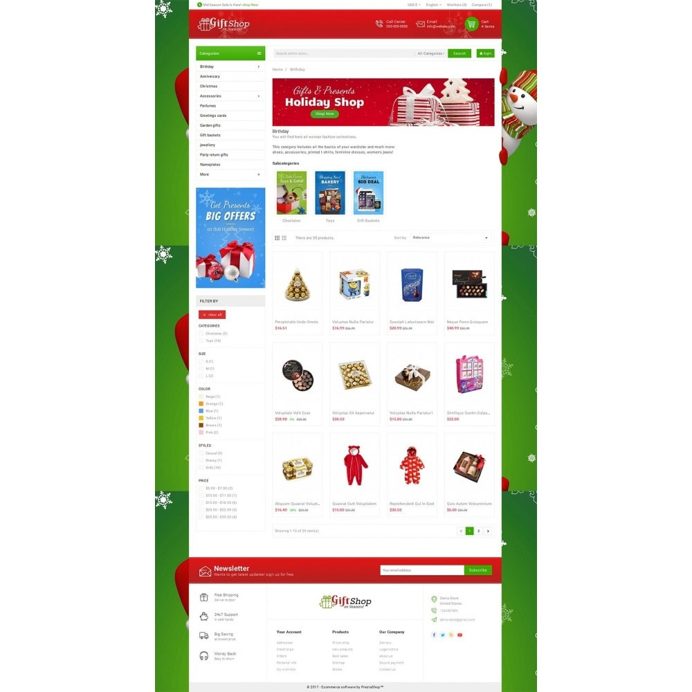 theme - Geschenke, Blumen & Feiern - Christmas Gift Mega Store - 3