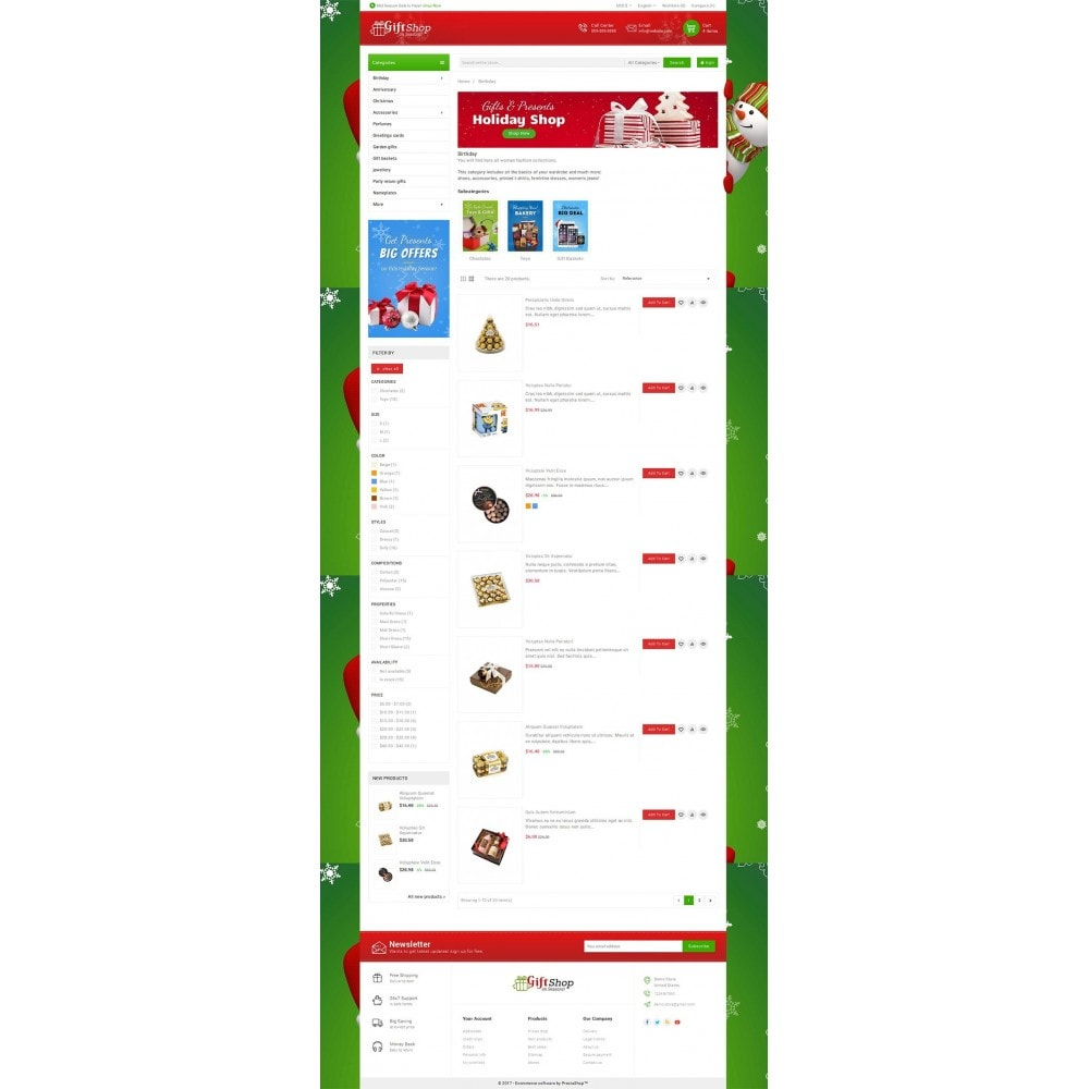 theme - Geschenke, Blumen & Feiern - Christmas Gift Mega Store - 4