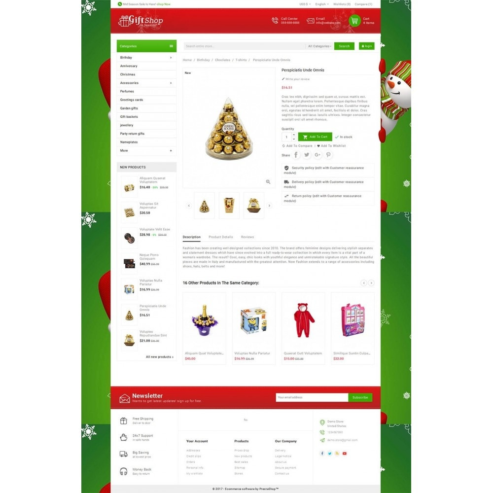 theme - Cadeaus, Bloemen & Gelegenheden - Christmas Gift Mega Store - 5