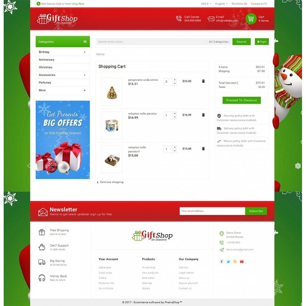 theme - Cadeaux, Fleurs et Fêtes - Christmas Gift Mega Store - 6
