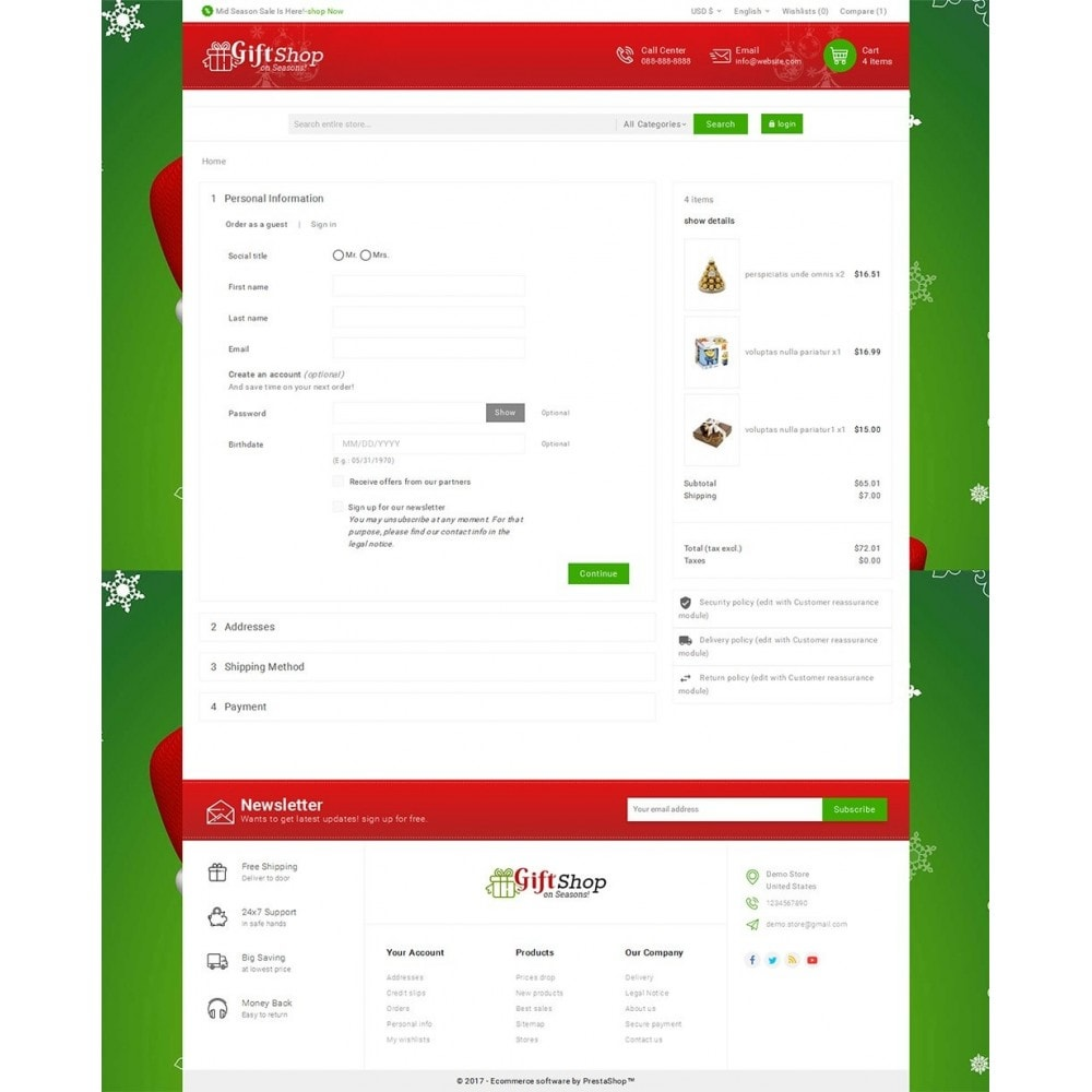 theme - Cadeaux, Fleurs et Fêtes - Christmas Gift Mega Store - 7