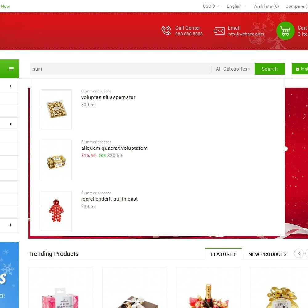 theme - Cadeaus, Bloemen & Gelegenheden - Christmas Gift Mega Store - 10
