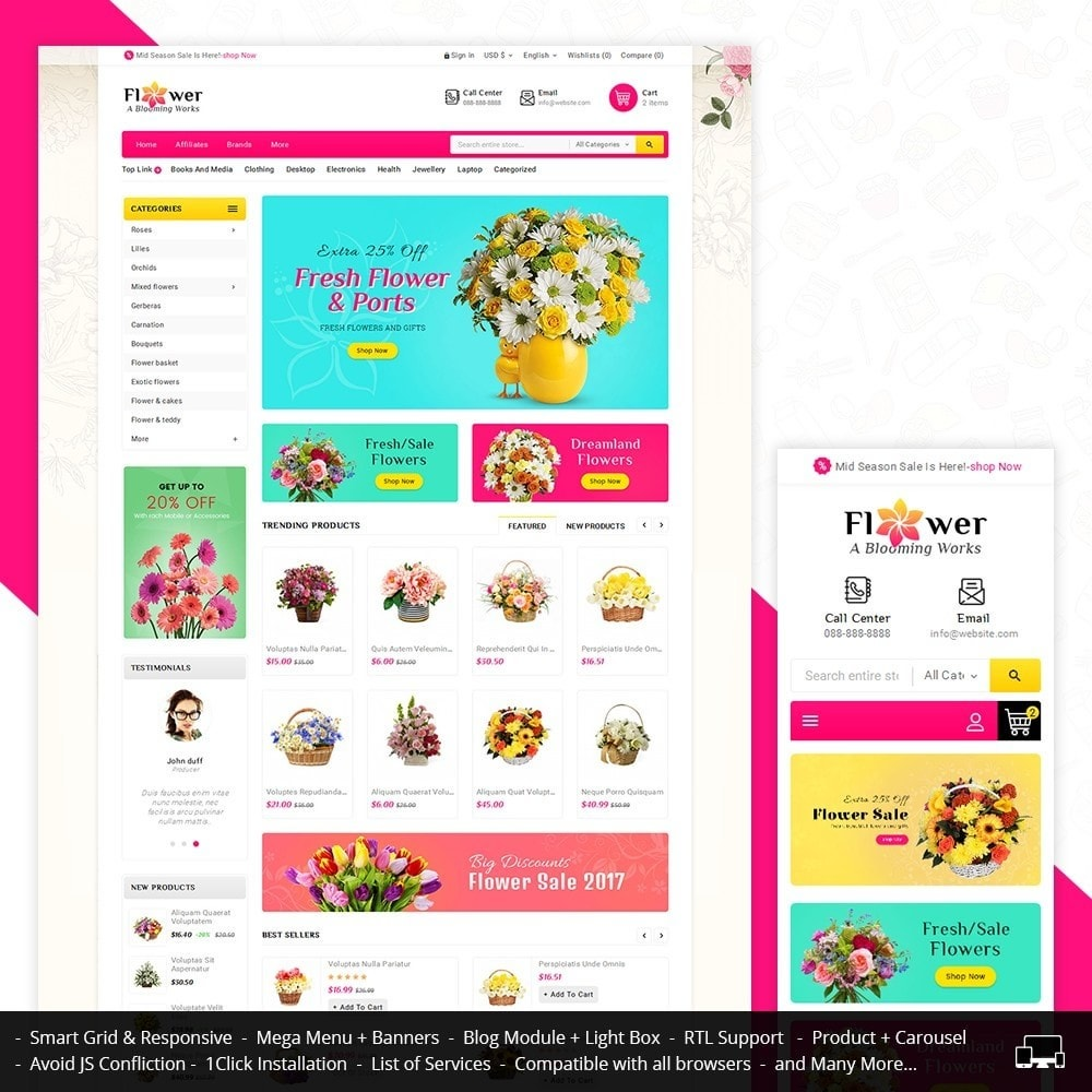 theme - Regali, Fiori & Feste - Blooming Flower Mega Store - 1