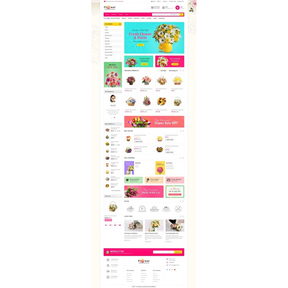 theme - Gifts, Flowers & Celebrations - Blooming Flower Mega Store - 2