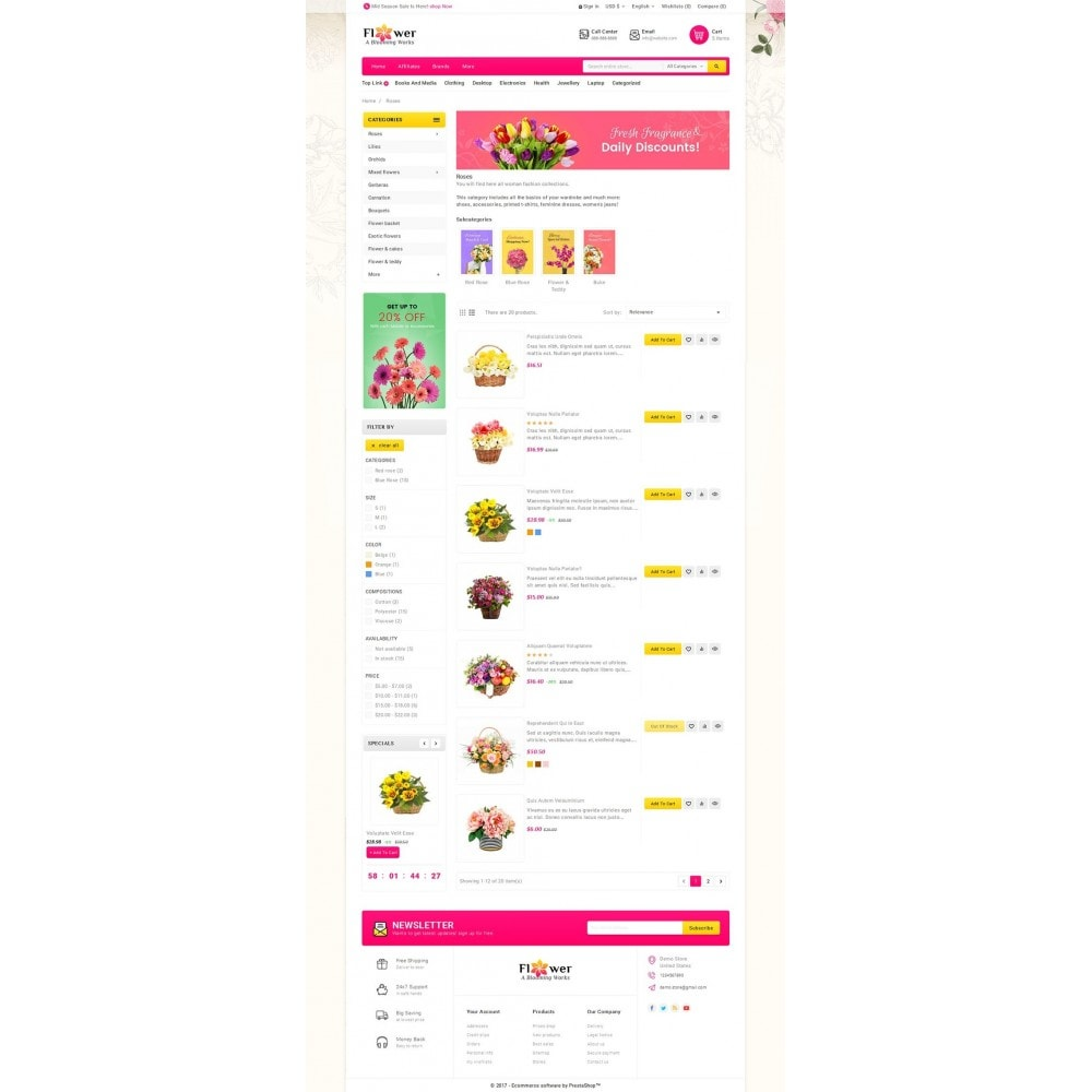 theme - Gifts, Flowers & Celebrations - Blooming Flower Mega Store - 4