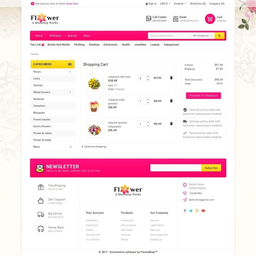 theme - Gifts, Flowers & Celebrations - Blooming Flower Mega Store - 6